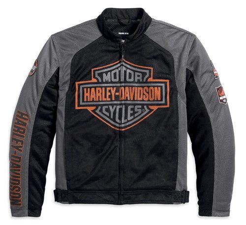 Bar & Shield Logo Mesh Jacket