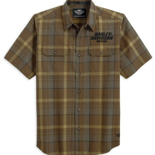Men's  S/S Plaid Woven Shirt