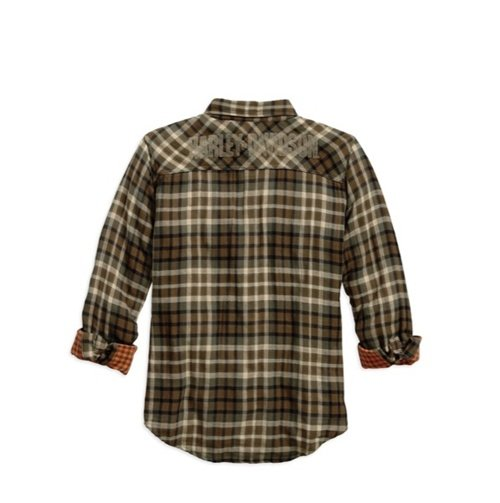 Men's Plaid Double Cloth Plaid Shirt