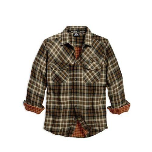 Men's Plaid Double Cloth Plaid Shirt