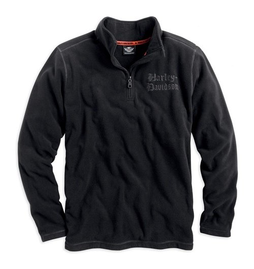 Men's Harley Black L/S Casual Fleece Shirt