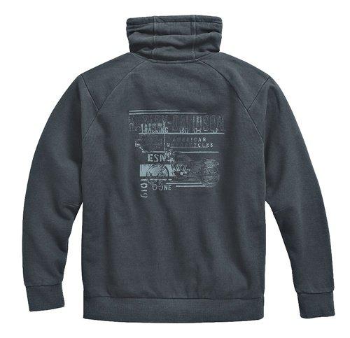 Men's Black High Collar Pullover Sweatshirt