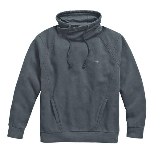 Men's Black High Collar Pullover Sweatshirt