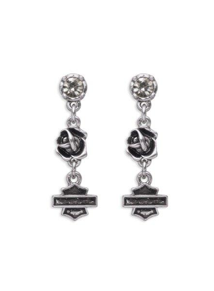 Women's  Rose & Shield Drop Earrings