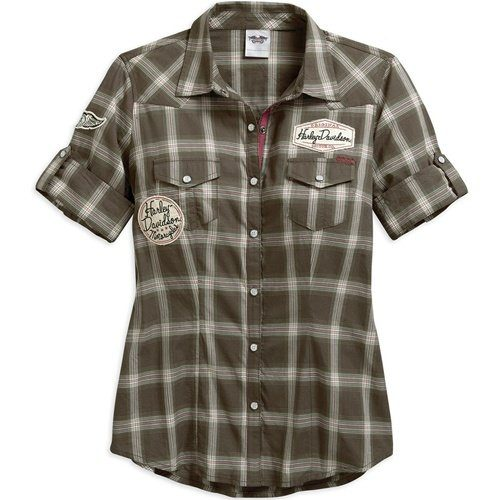 Women's Plaid Multi-Patch Plaid Shirt