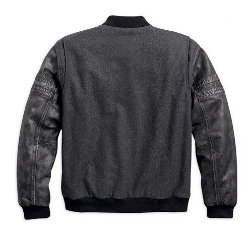 Men's Colorblocked Rowan Casual Varsity Jacket